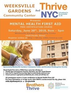 Mental Health First Aid at the Community Center